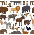 animal and bird seamless pattern