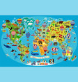 animal map world with air balloons vector image vector image