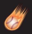 baseball-fire vector image vector image