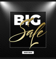 big sale lettering the design of the inscription vector image vector image