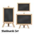 blackboard set vector image vector image