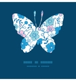 blue and pink kimono blossoms butterfly vector image vector image