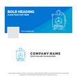 blue business logo template for insurance fragile vector image