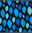 blue leaf pattern on a vector image vector image