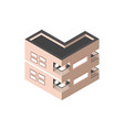 building residential private isometric style vector image