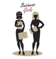 business woman silhouette-04 vector image vector image