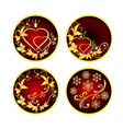 buttons red with golden ornaments vector image vector image