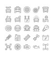 car service line icons vector image