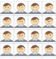 cartoon smilies vector image vector image