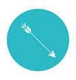 circle light blue with hunting arrow vector image