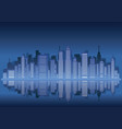 cityscape silhouette with skyscrapers vector image vector image