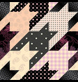 Classic hounds-tooth pattern in a patchwork