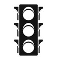 classic traffic lights icon simple style vector image vector image