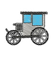 color crayon stripe image wedding carriage without vector image