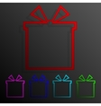 Color set gift banners frame template for design vector image