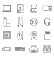 Computer Hardware And Accessories Icon Set vector image