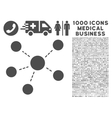 Connections Icon with 1000 Medical Business vector image vector image