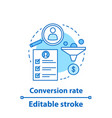 conversion rate concept icon vector image vector image