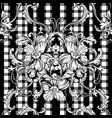 Eclectic fabric plaid seamless pattern with