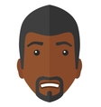 Embarrassed african man vector image vector image