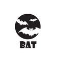 emblem flying bats vector image