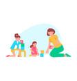 flat kindergarten vector image