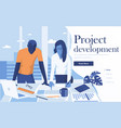 flat modern design project development vector image