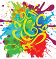 ganpati splash painting vector image vector image