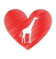 giraffe animal isolated icon vector image