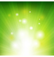 Green Background With Beams vector image vector image