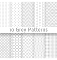 Grey seamless patterns tiling vector image