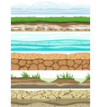 ground seamless levels desert grounded land soil vector image
