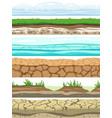ground seamless levels desert grounded land soil vector image vector image