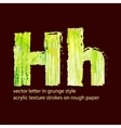 grungy letter H vector image