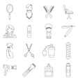 Hairdressing icons set outline style vector image vector image