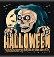 halloween grim reaper vector image vector image