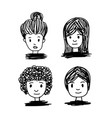 hand drawn people vector image vector image