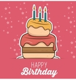 happy birthday design isolated vector image vector image