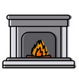 home chimney construction vector image
