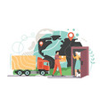 home delivery service flat style design vector image vector image
