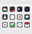 icon set for mobile interface on white vector image vector image