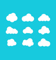 isolated clouds icons cloud icons in trendy flat vector image vector image