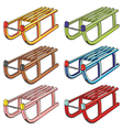 isolated sleighs vector image vector image
