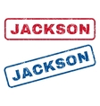 Jackson Rubber Stamps vector image vector image