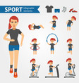 jogging woman sport and exercises infographic vector image vector image