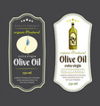 label elements for olive oil elegant dark and vector image
