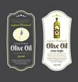 label elements for olive oil elegant dark vector image vector image