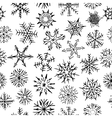 many different shapes snowflakes drawn hand vector image vector image