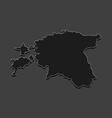 map estonian vector image vector image