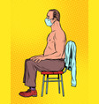 masked patient at doctors appointment vector image